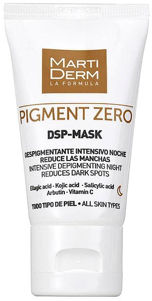 Depigmentująca maska do twarz - MartiDerm Pigment Zero DSP-Mask Intensive Depigmenting Night — фото N2