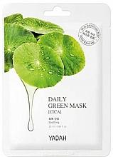 Kup Maska w płachcie o działaniu łagodzącym i regenerującym Wąkrota azjatycka - Yadah Daily Green Mask Cica