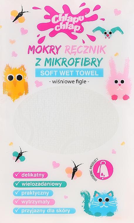 Mokry ręcznik z mikrofibry - Chlapu Chlap Soft Wet Towel Cherry