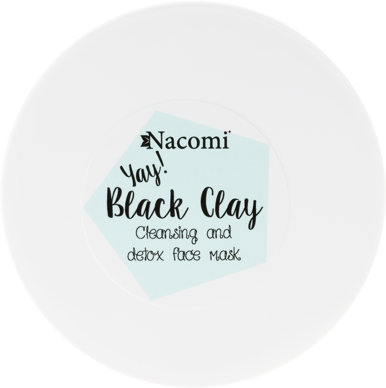 Glinka czarna do twarzy - Nacomi Black Clay