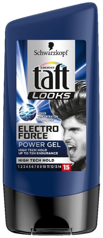 Ekstramocny żel do włosów - Schwarzkopf Taft Looks Electro Force Power Styling Gel — фото N1