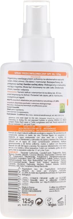 Naturalny spray przeciwsłoneczny SPF 30 - Alphanova Sun Protection Spray — фото N2