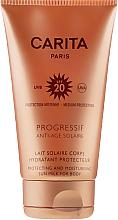 PRZECENA! Nawilżające mleczko przeciwsłoneczne do ciała SPF 20 - Carita Progressif Anti-Age Solaire Protecting And Moisturising Sun Milk * — фото N2