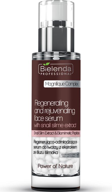 Regenerująco-odmładzające serum do twarzy z ekstraktem ze śluzu ślimaka - Bielenda Professional Power of Nature Regenerating And Rejuvenating Face Serum — фото N1