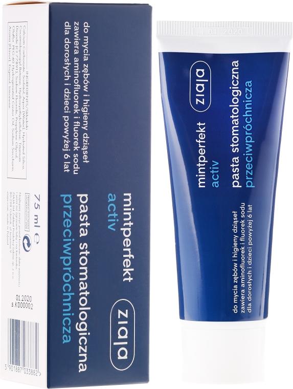 Przeciwpróchnicza pasta stomatologiczna - Ziaja Mintperfekt Activ