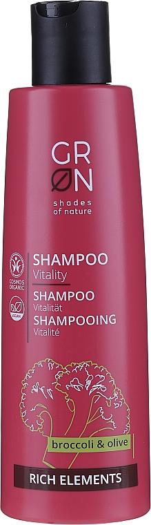 Szampon do włosów Brokuł i oliwka - GRN Rich Elements Broccoli & Olive Vitality Shampoo — фото N1