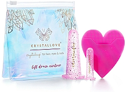 Kup Silikonowe bańki do masażu twarzy - Crystallove Crystalcup For Face, Eyes & Neck Rose Set