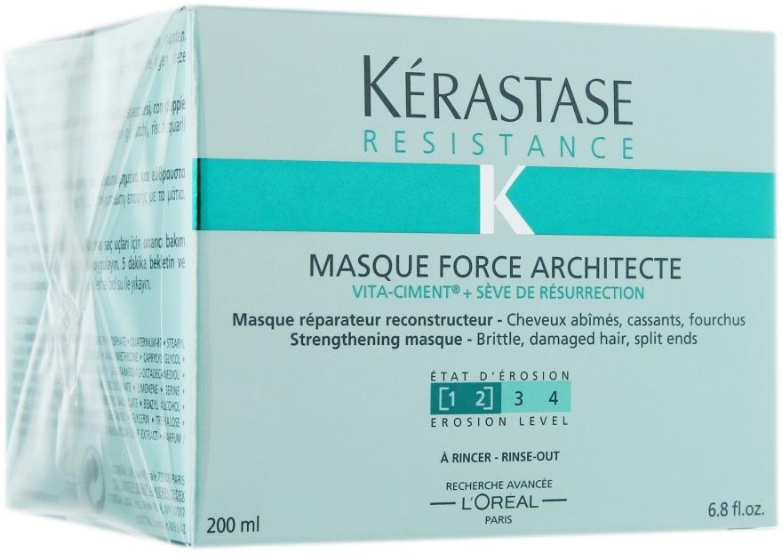 Maska odbudowująca do włosów zniszczonych i osłabionych - Kérastase Résistance Masque Force Architecte
