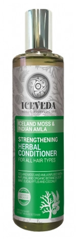 Wzmacniająca odżywka ziołowa do włosów Islandzki mech i indyjska amla - Iceveda