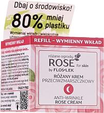 Kup Krem przeciwzmarszczkowy na noc - Floslek Rose For Skin Anti-Wrinkle Night Cream Refill