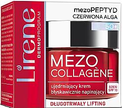 Kup Ujędrniający krem błyskawicznie napinający do twarzy na dzień SPF 10 50+ - Lirene Mezo Collagène