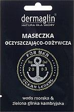 Kup Oczyszczająco-odżywcza maseczka do twarzy dla mężczyzn z wodą morską i zieloną glinką kambryjską - Dermaglin Ocean Legend For Men