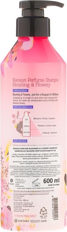 Perfumowany szampon do włosów przetłuszczających się - KeraSys Blooming & Flowery Perfumed Shampoo — фото N2