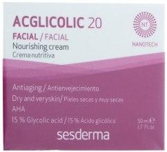 Odżywczy krem przeciwstarzeniowy - SesDerma Laboratories Acglicolic 20 Nourishing Cream — фото N1