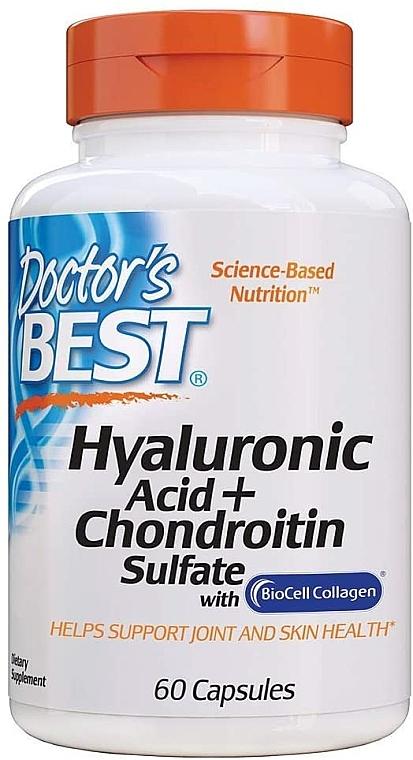 Kwas hialuronowy z siarczanem chondroityny i kolagenem na zdrowe stawy - Doctor's Best Hyaluronic Acid with Chondroitin Sulfate Capsules — фото N1