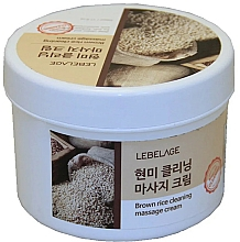 Kup Krem do masażu z brązowym ryżem - Lebelage Brown Rice Cleaning Massage Cream