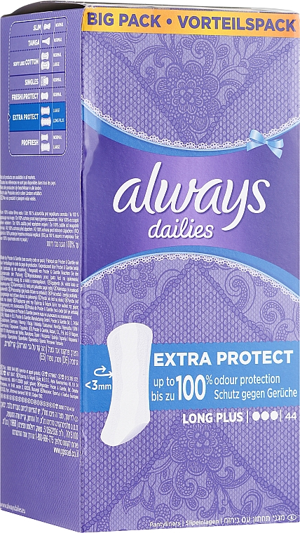 Podpaski, 44 szt. - Always Dailies Extra Protect Long Plus — фото N1