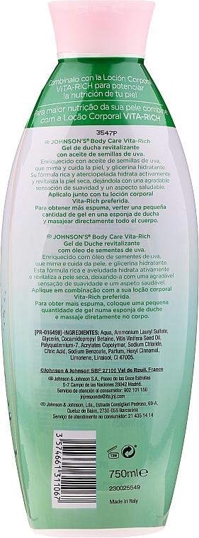 Rewitalizujący żel pod prysznic - Johnson's Body Care Vita-Rich Revitalising Shower Gel — фото N4