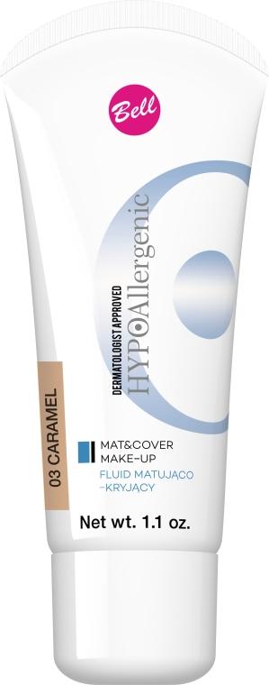 Hipoalergiczny fluid matująco-kryjący - Bell HYPOallergenic Mat&Cover Make-Up