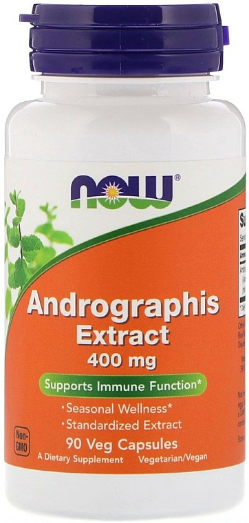 Ekstrakt z andrographis w kapsułkach - Now Foods Andrographis Extract — фото N1