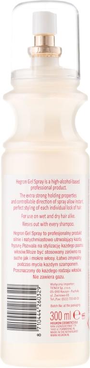 Mocny żel do stylizacji włosów - Hegron Styling Gel Spray Extra Strong  — фото N4