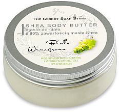 Kup PRZECENA! Masło do ciała z 80% zawartością masła shea Białe winogrona - The Secret Soap Store White Grape Shea Body Butter *