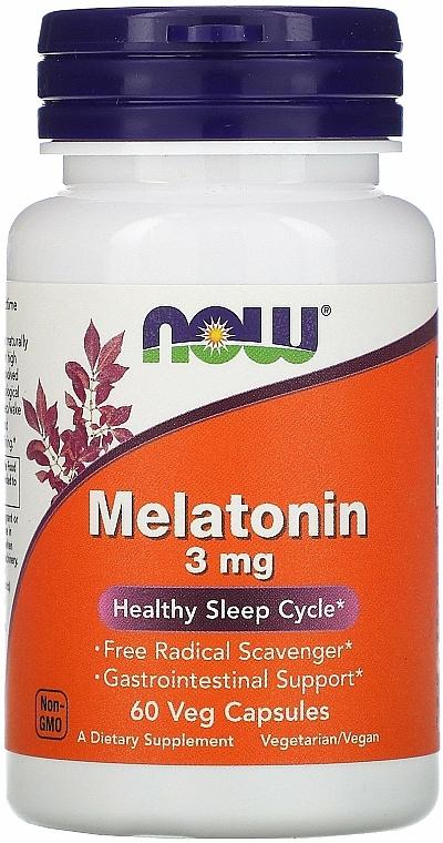 Melatonina na zdrowy sen, 3 mg - Now Foods Melatonin