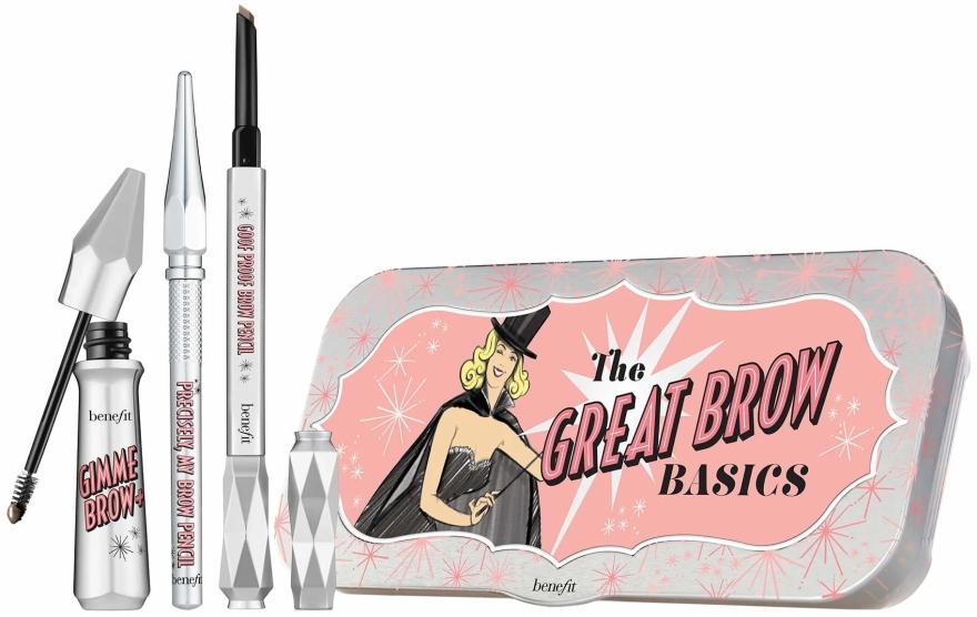Zestaw do brwi Wszystko w jednym - Benefit The Great Brow Basics (brow/gel 3 g + brow/pencil 0,17 g + brow/pencil/mini 0,04 g)