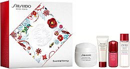 Kup Zestaw - Shiseido Essential Energy Holiday Kit (cr/50ml + foam/15ml + f/lot/30ml + conc/5ml)