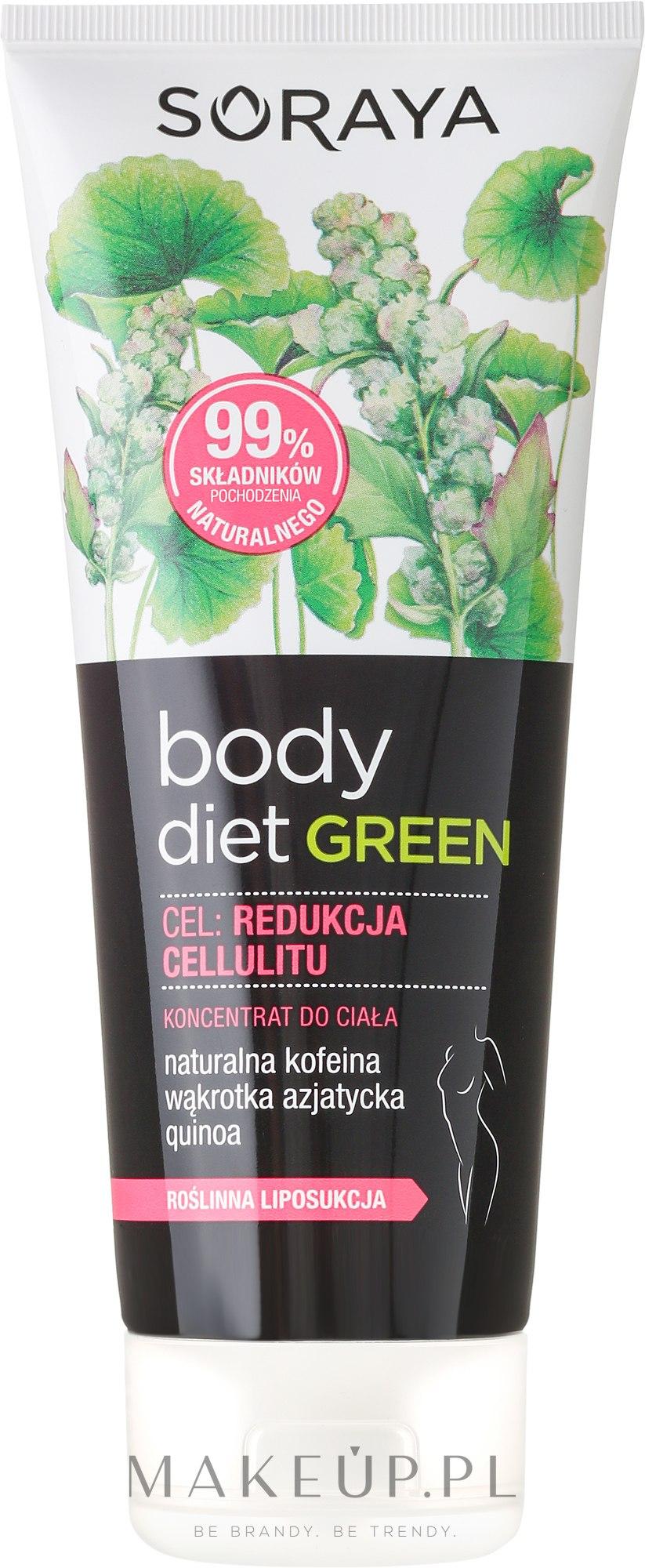 Antycellulitowy koncentrat do ciała - Soraya Body Diet Green — фото 200 ml
