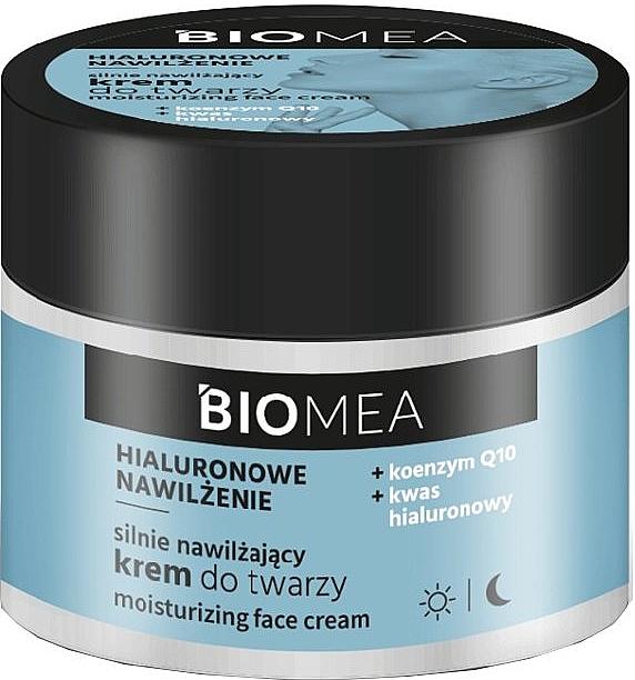 Silnie nawilżający krem do twarzy z koenzymem Q10 - Farmona Biomea Moisturizing Face Cream
