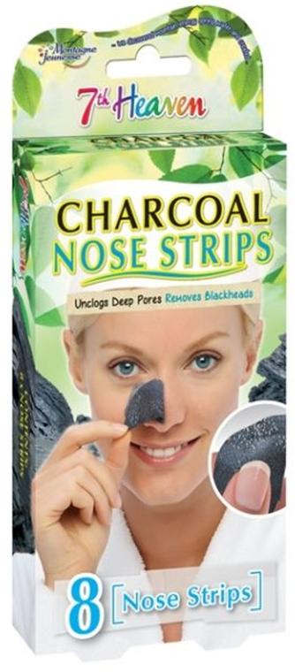 Oczyszczające paski na nos z węglem aktywnym - 7th Heaven Charcoal Nose Strips