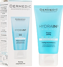 Kup Peeling enzymatyczny do skóry suchej, bardzo suchej i odwodnionej - Dermedic Hydrain3 Hialuro