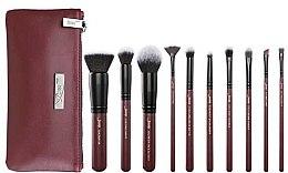 Kup Zestaw pędzli do makijażu z kosmetyczką, T259+CB004, 10 szt. - Jessup