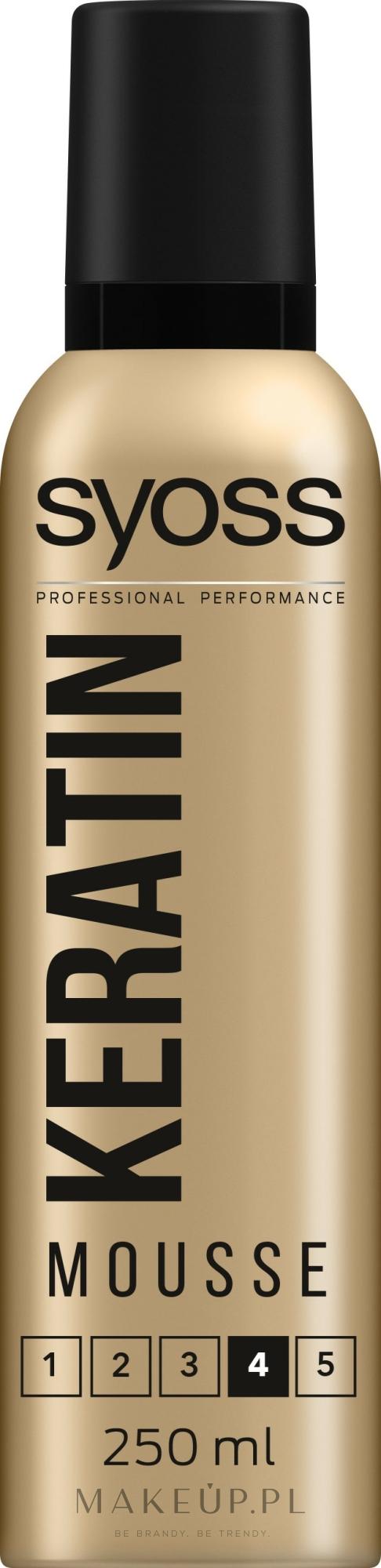 Supermocna pianka do włosów - Syoss Keratin Style Perfection Mousse — фото 250 ml