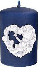 Kup Świeca dekoracyjna, granatowa, 7 x 10 cm - Artman Amore