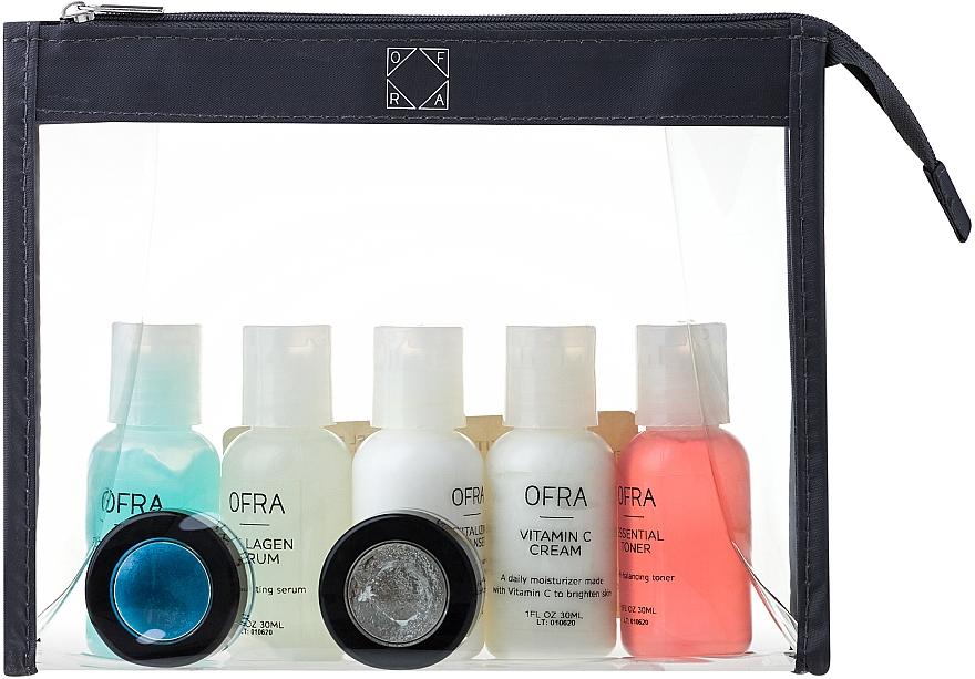 Zestaw - Ofra Skin Care Kit Dry (cleanser/30ml + f/ton/30ml + eye/remover/30ml + f/cr/30ml + ser/30ml + f/peel/7ml + b/scrub/7ml + bag) — фото N1