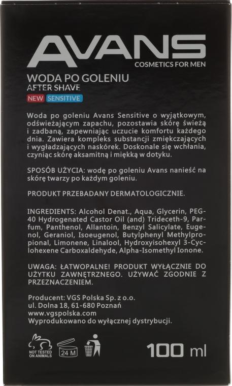 Woda po goleniu - Avans Sensitive — фото N2