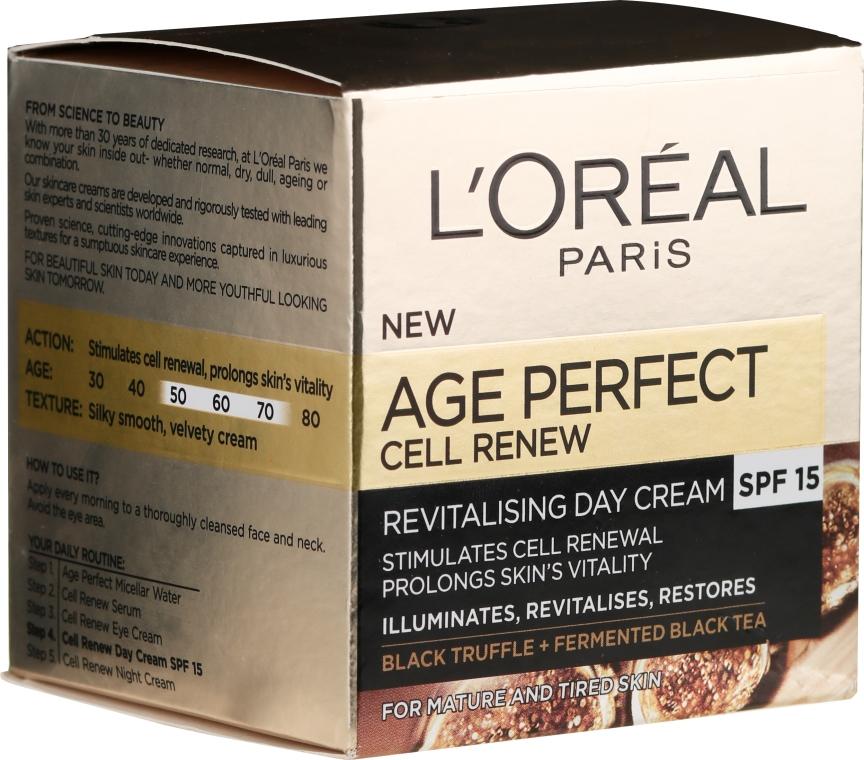 Odbudowujący krem do twarzy na dzień 50+ - L'Oreal Paris Age Perfect Cell Revival Day Cream — фото N1