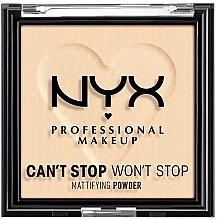 Kup Matujący puder w kompakcie do twarzy - NYX Professional Makeup Can't Stop Won't Stop Mattifying