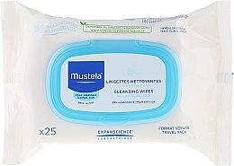 Kup Oczyszczające chusteczki nawilżane dla dzieci Travel Pack - Mustela Facial Cleansing Wipes