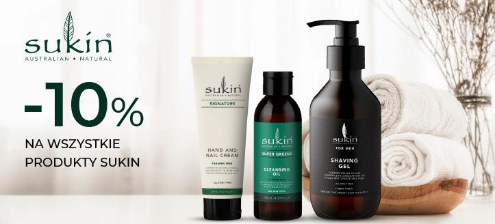 Zniżka 10% na wszystkie produkty Sukin. Сeny uwzględniają zniżkę.