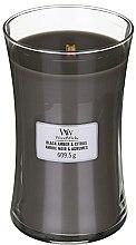 Kup Świeca zapachowa w szkle - WoodWick Hourglass Candle Black Amber & Citrus