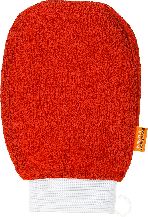Rękawica do mycia i masażu ciała, pomarańczowa - Efas — фото N1