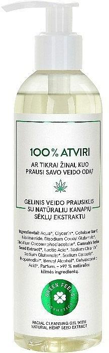 Żel do mycia twarzy z naturalnym ekstraktem z nasion konopi - Green Feel's — фото N1