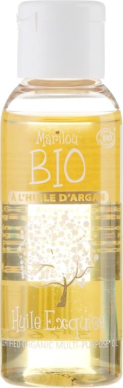 Olejek do twarzy, ciała i włosów z olejem arganowym - Marilou Bio Multipurpose Oil Argan — фото N1