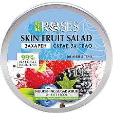 Kup Peeling do twarzy i ciała Jagody i czarny pieprz - Nature of Agiva Roses Body Fruit Salad Nourishing Sugar Scrub