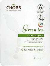 Kup Maska do twarzy poprawiająca koloryt skóry Zielona herbata - CHOBS Green Tea Face Mask Pack