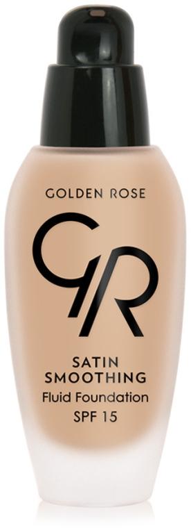 Długotrwały podkład wygładzający - Golden Rose Satin Smoothing Fluid Foundation SPF 15