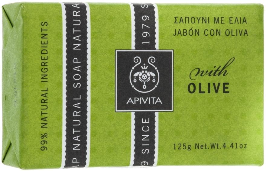 Oliwkowe mydło kosmetyczne - Apivita Natural Soap with Olive — фото N1